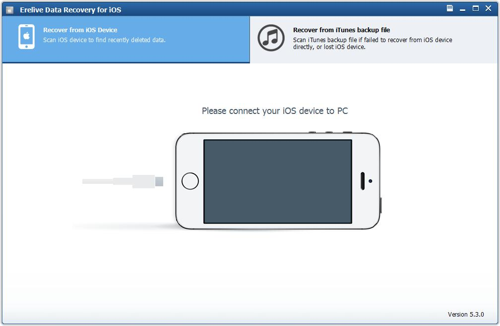 Erelive Data Recovery for iOS full screenshot
